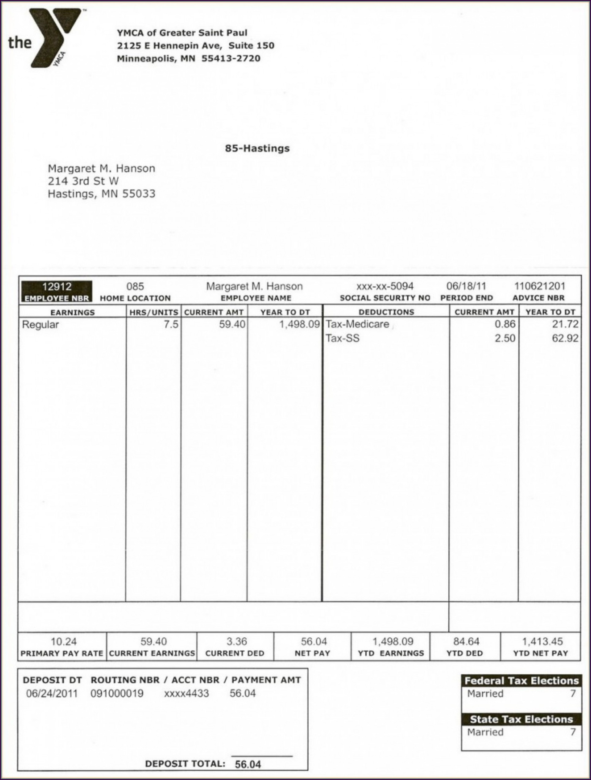 Reading A Pay Stub Worksheet Pay Stub Worksheet