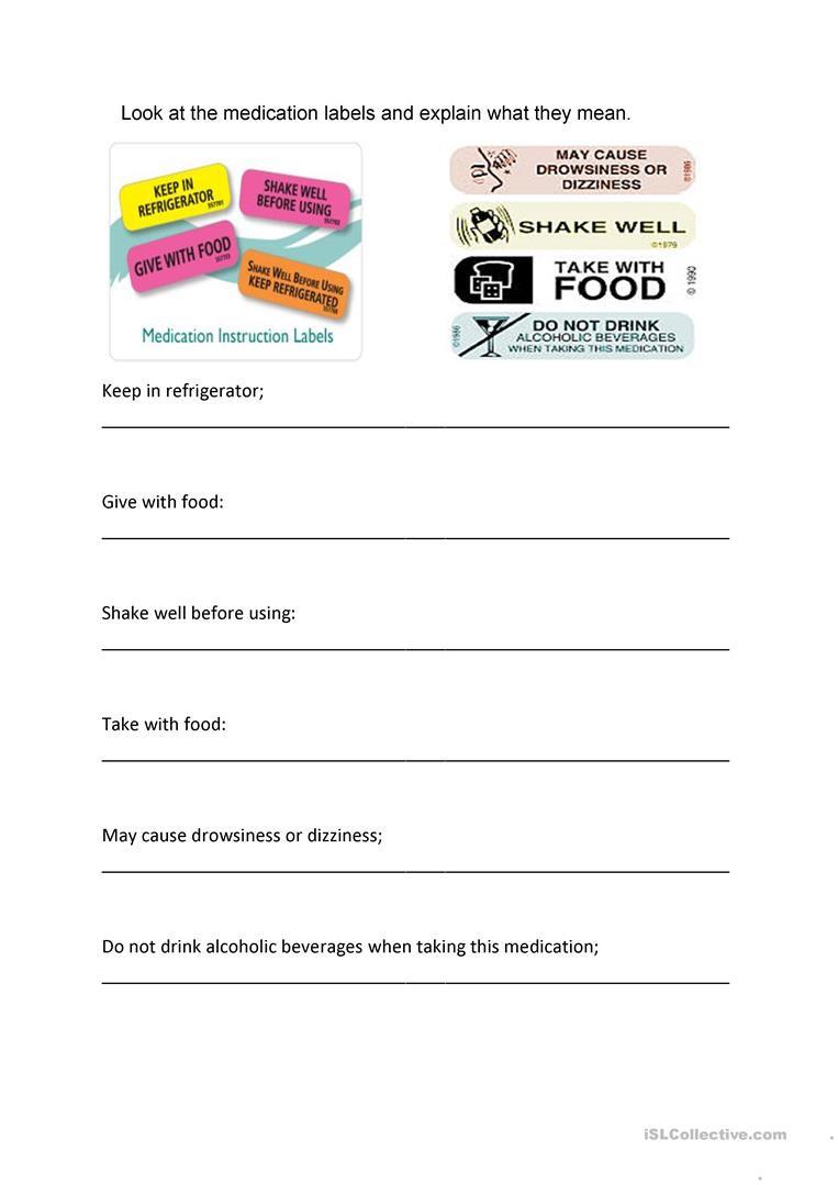Reading Food Label Worksheet English Esl Labels Worksheets Most Ed 18 Results