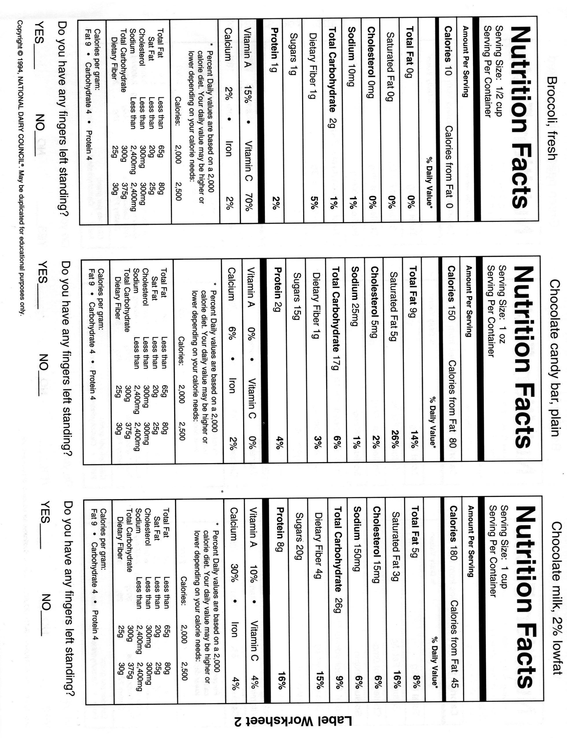 Reading Food Label Worksheet Nutrition Label Parison Worksheet Pensandpieces