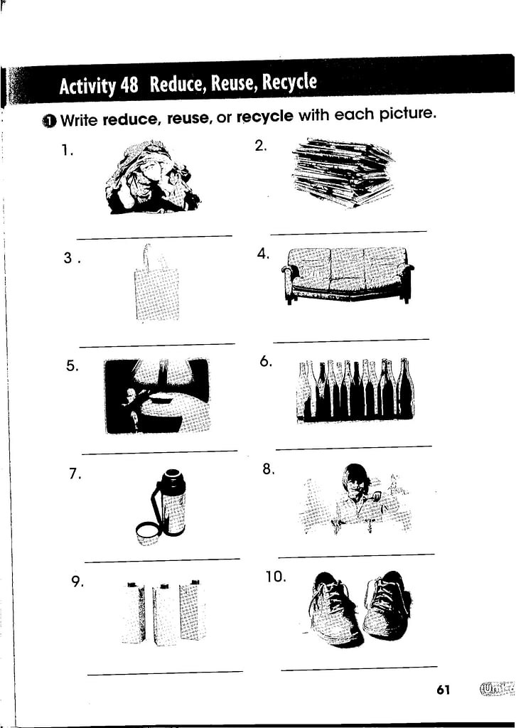Reduce Reuse Recycle Worksheet 2019 02 23 A2 Pm Science Kobils
