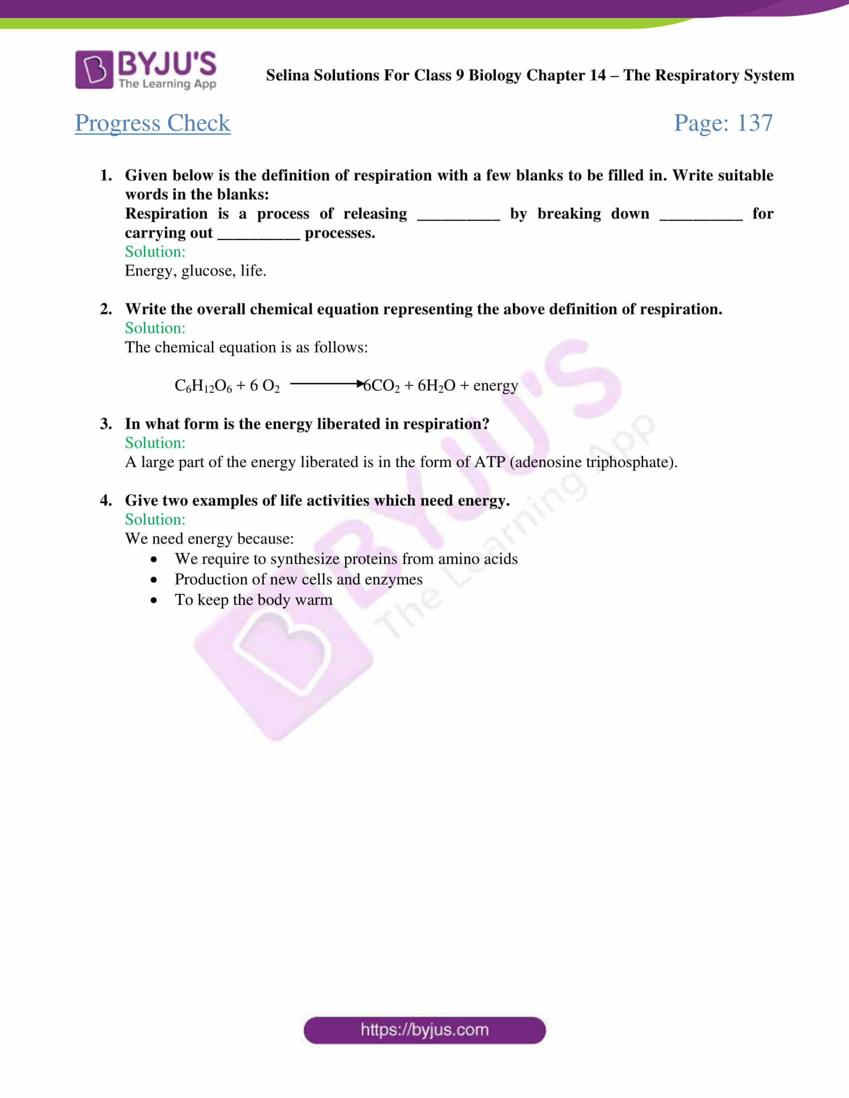 Respiratory System Worksheet Pdf Selina solutions Class 9 Concise Biology Chapter 14 the