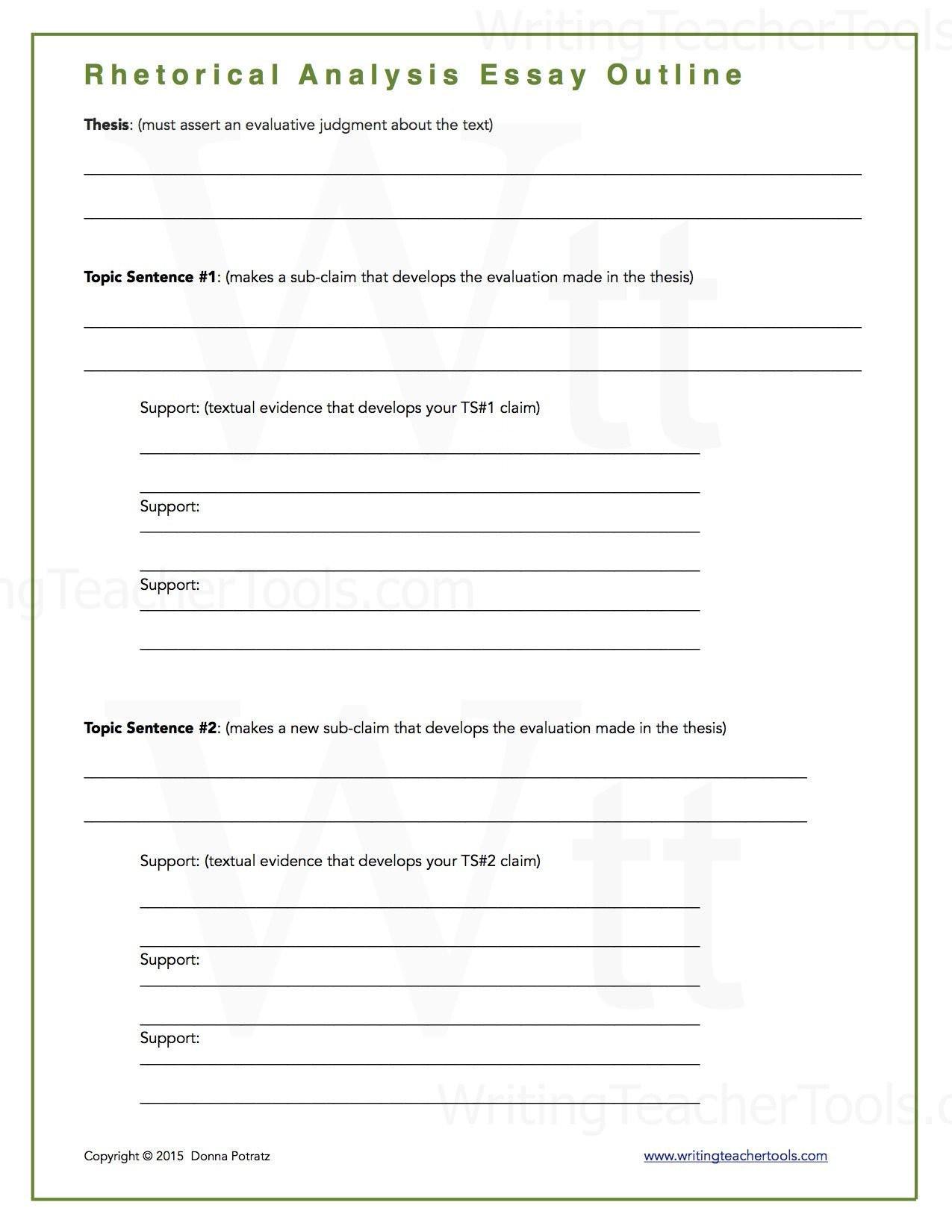 Rhetorical Analysis Outline Worksheet 30 Rhetorical Analysis Outline Worksheet