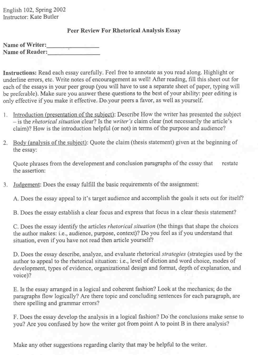 Rhetorical Analysis Outline Worksheet Good Essays for Rhetorical Analysis Outline