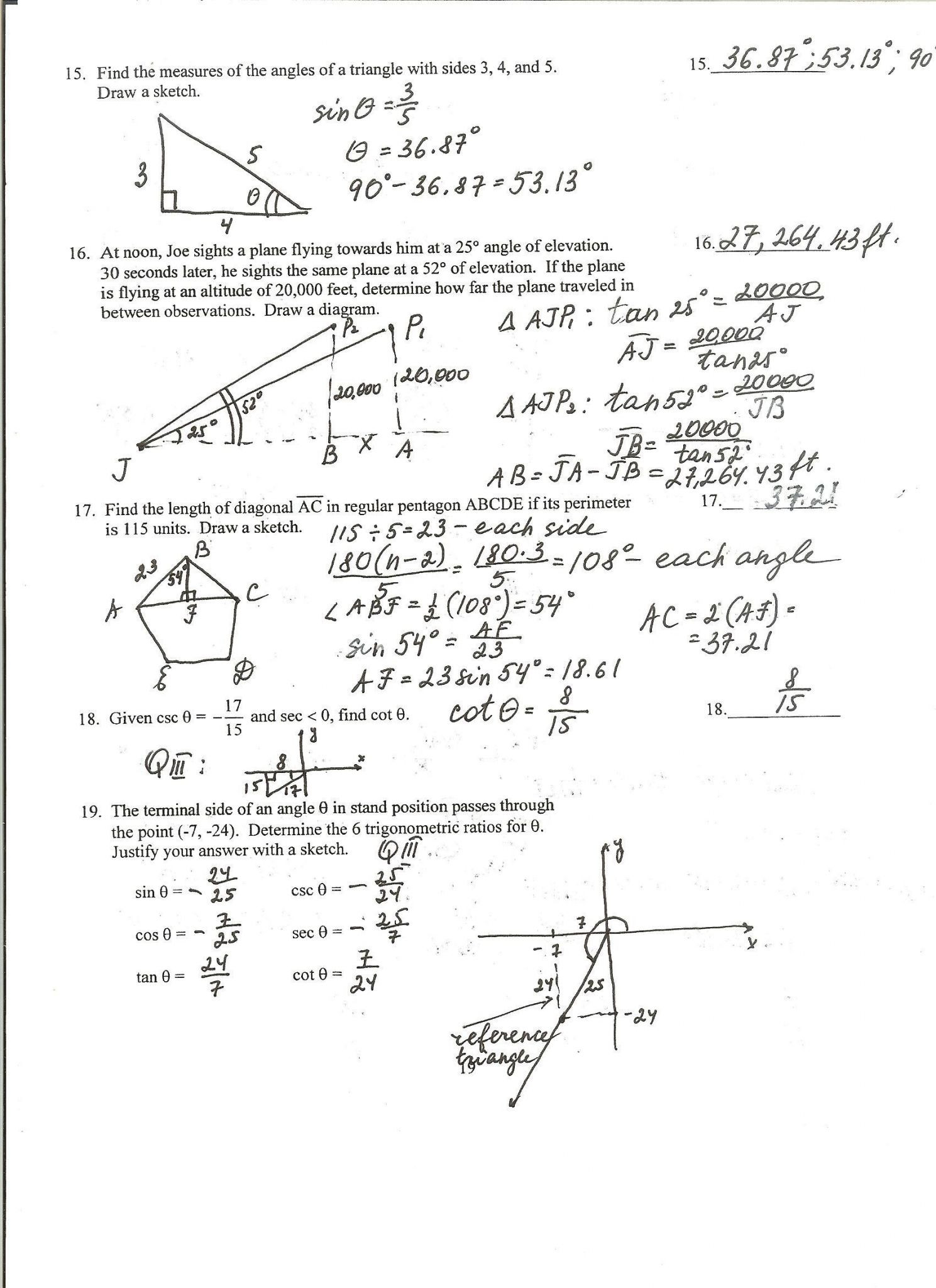 Right Triangle Trig Worksheet Answers Kinder 2 Worksheets Abc Pattern Worksheets First Grade Right