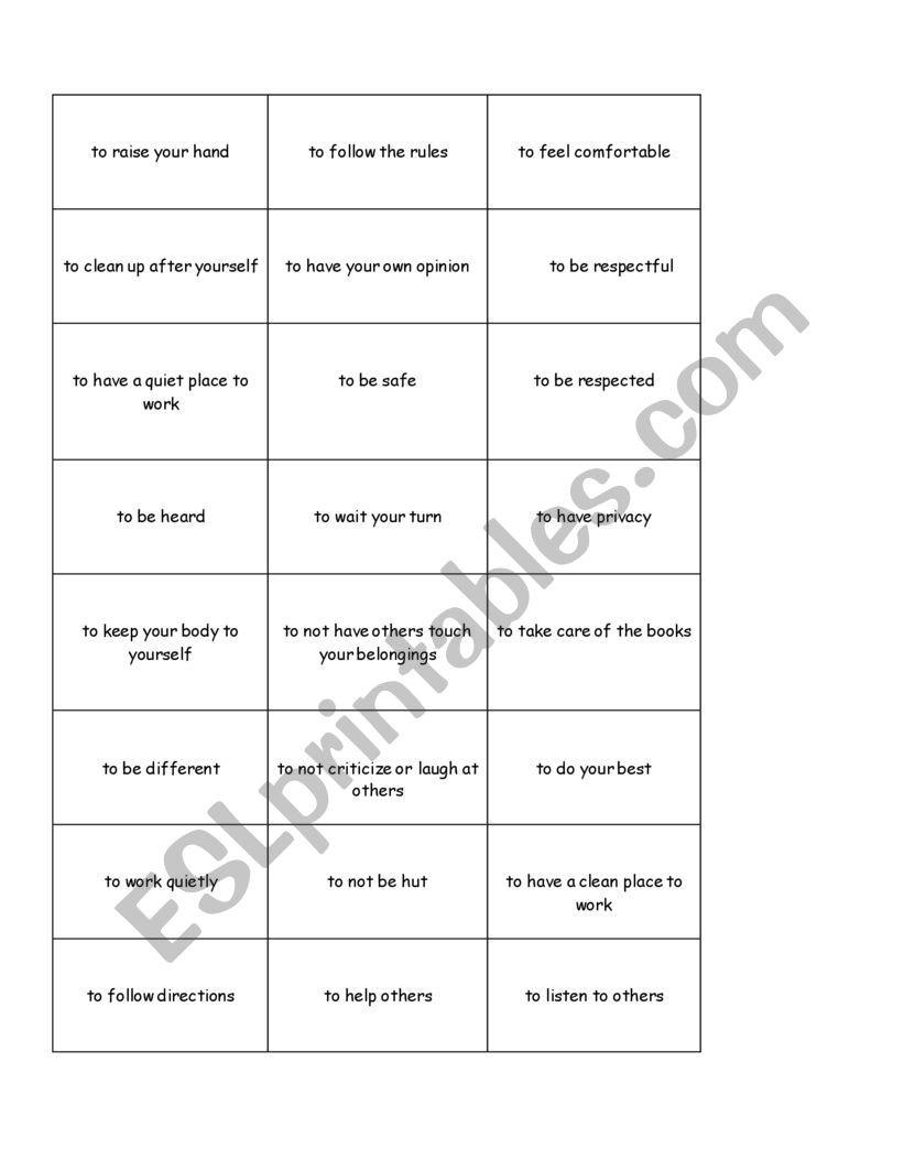 Rights and Responsibilities Worksheet Rights and Responsibilities Esl Worksheet by Model38