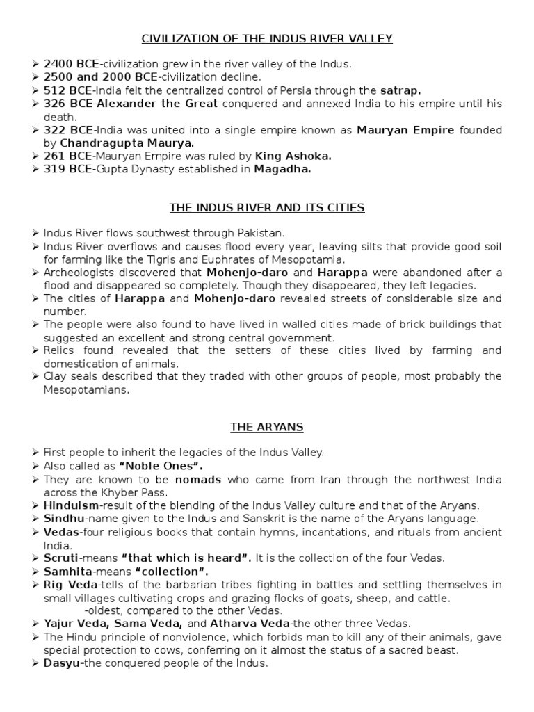 River Valley Civilizations Worksheet Answers Civilization Of the Indus River Valley ashoka