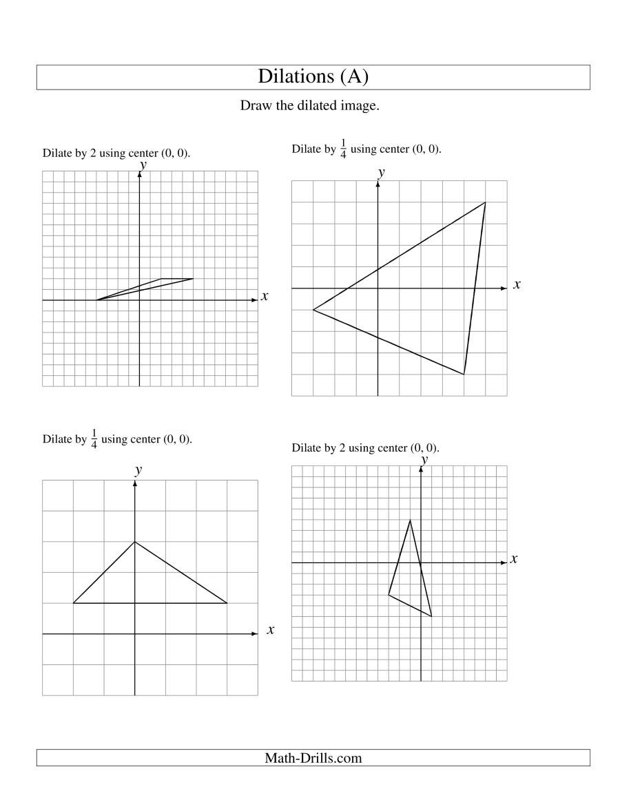 Scale Factor Worksheet with Answers Dilation Math Worksheets