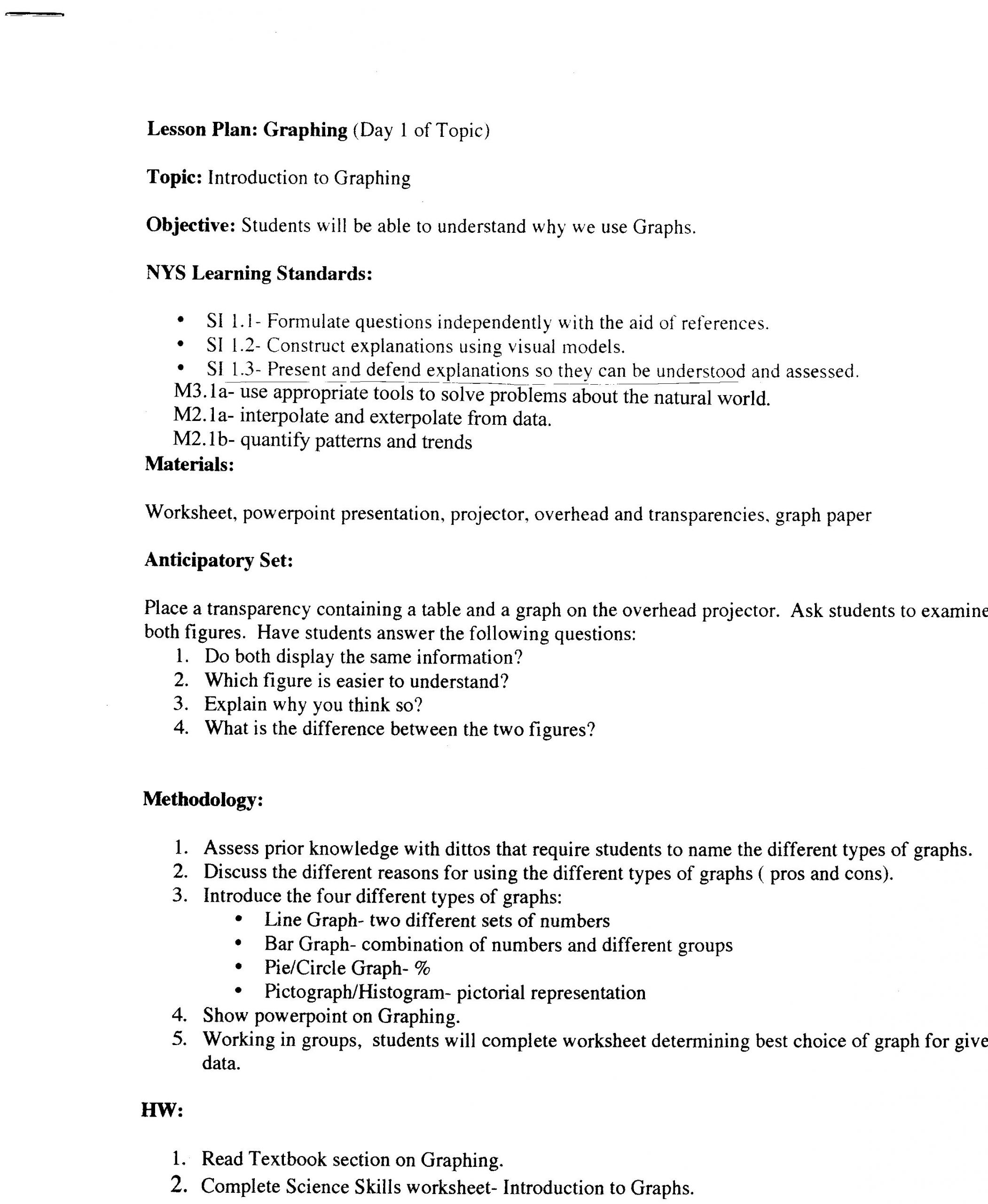 Science Skills Worksheet Answer Key Science Skills