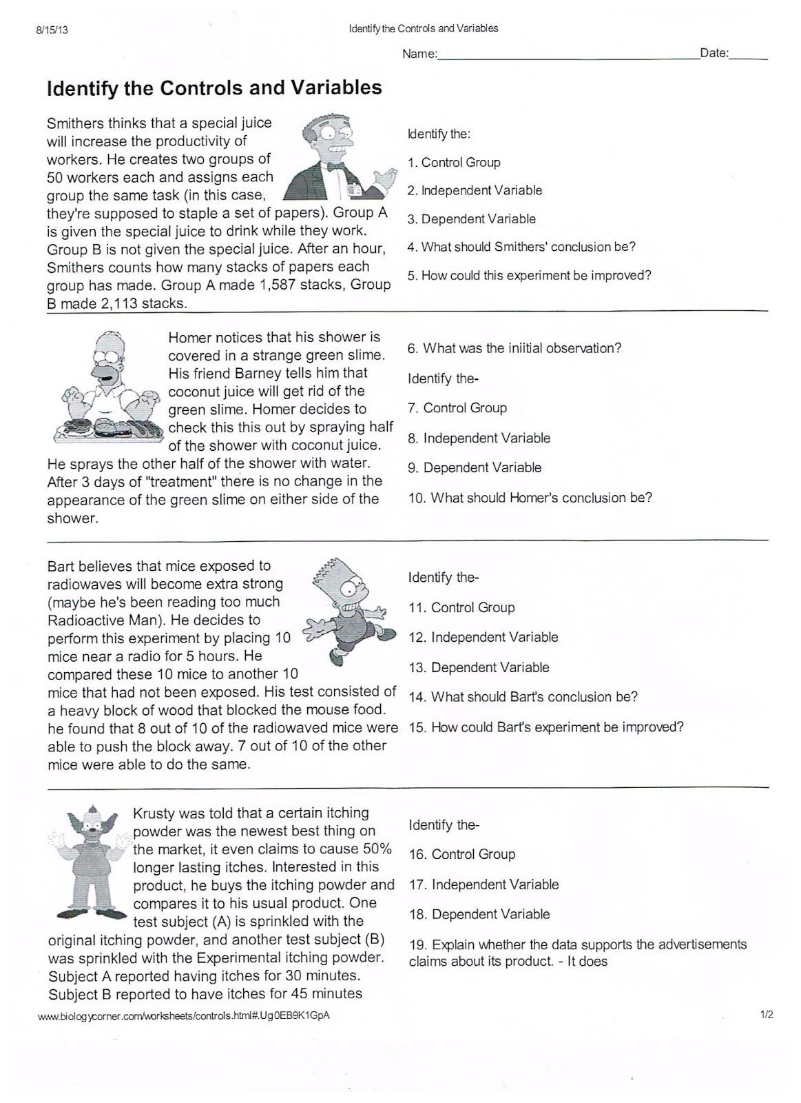 Scientific Method Examples Worksheet if Only My Students Were A Little Older but Could Rework