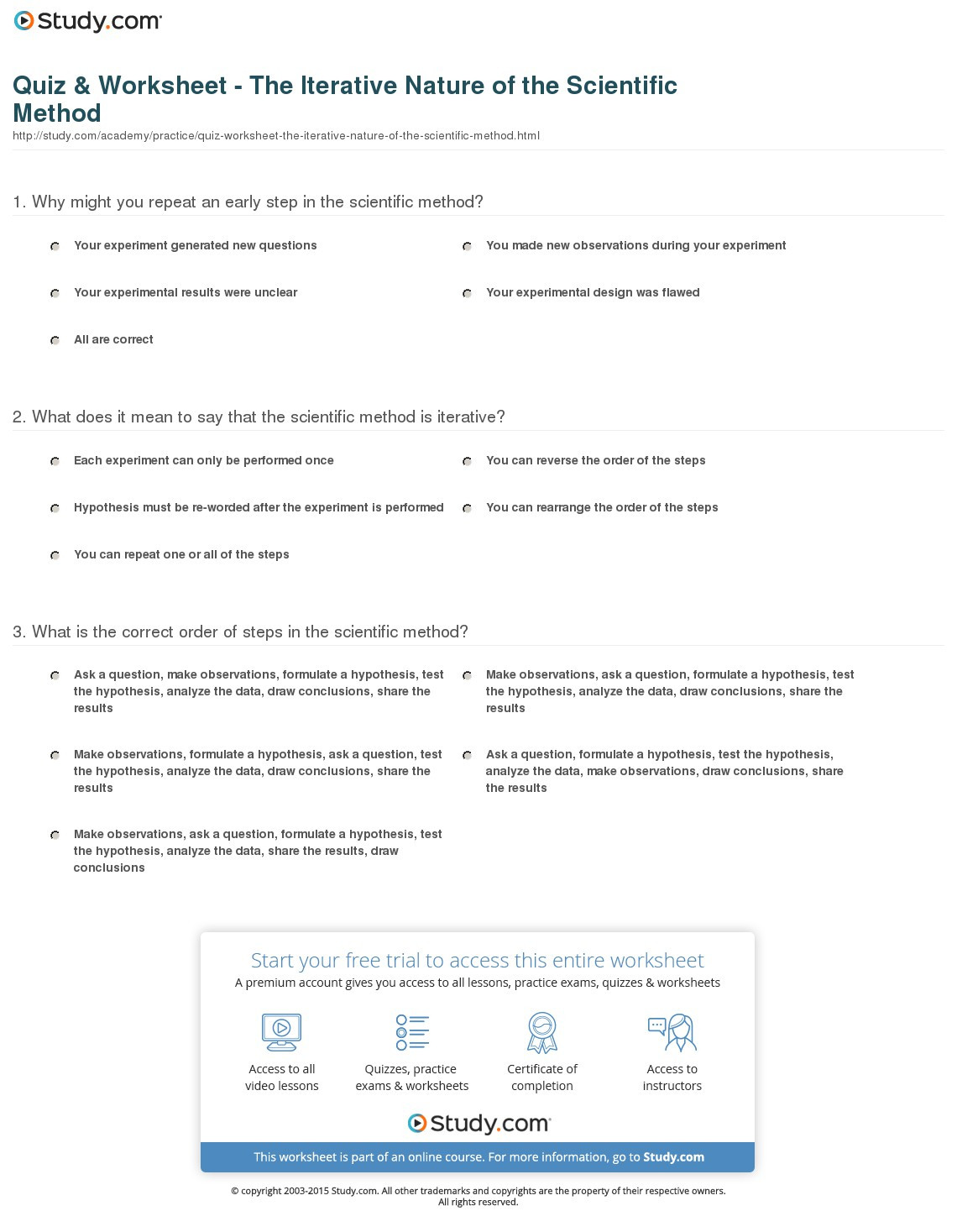Scientific Method Steps Worksheet Lovely the Nature Science Worksheet Answers