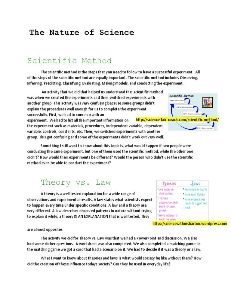 Scientific Method Steps Worksheet Scientific Method the Nature Of Science