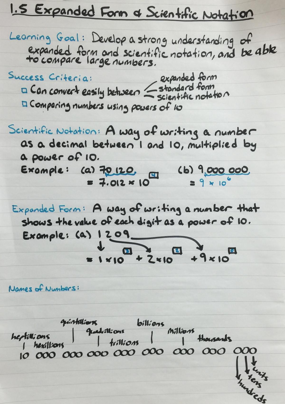 Scientific Notation Worksheet 8th Grade Scientific Notation – Jeremy Barr