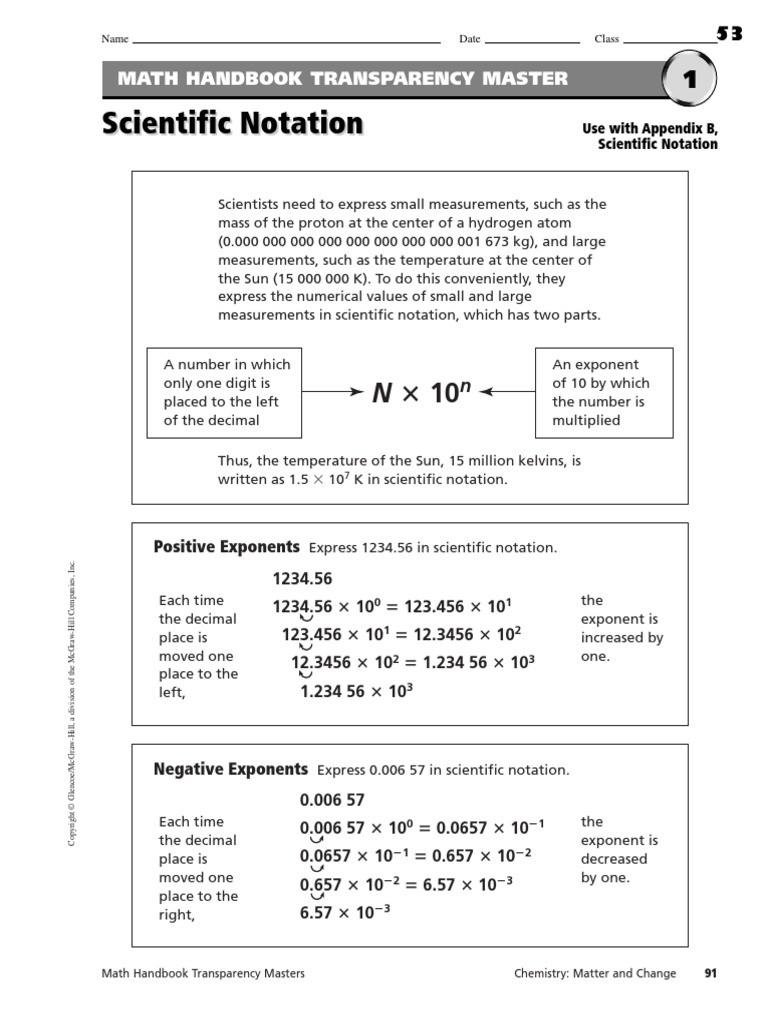 Scientific Notation Worksheet 8th Grade Scientific Notation Worksheets Multiplication