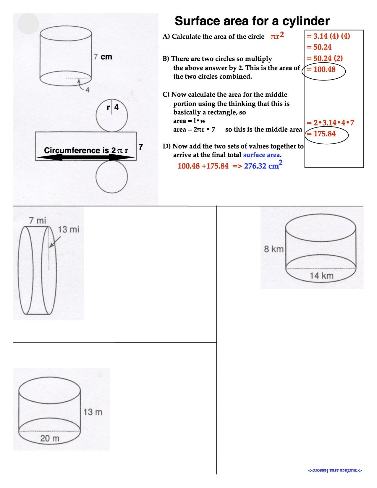 Scientific Notation Worksheet 8th Grade Surface area Math 8 Rsu 2