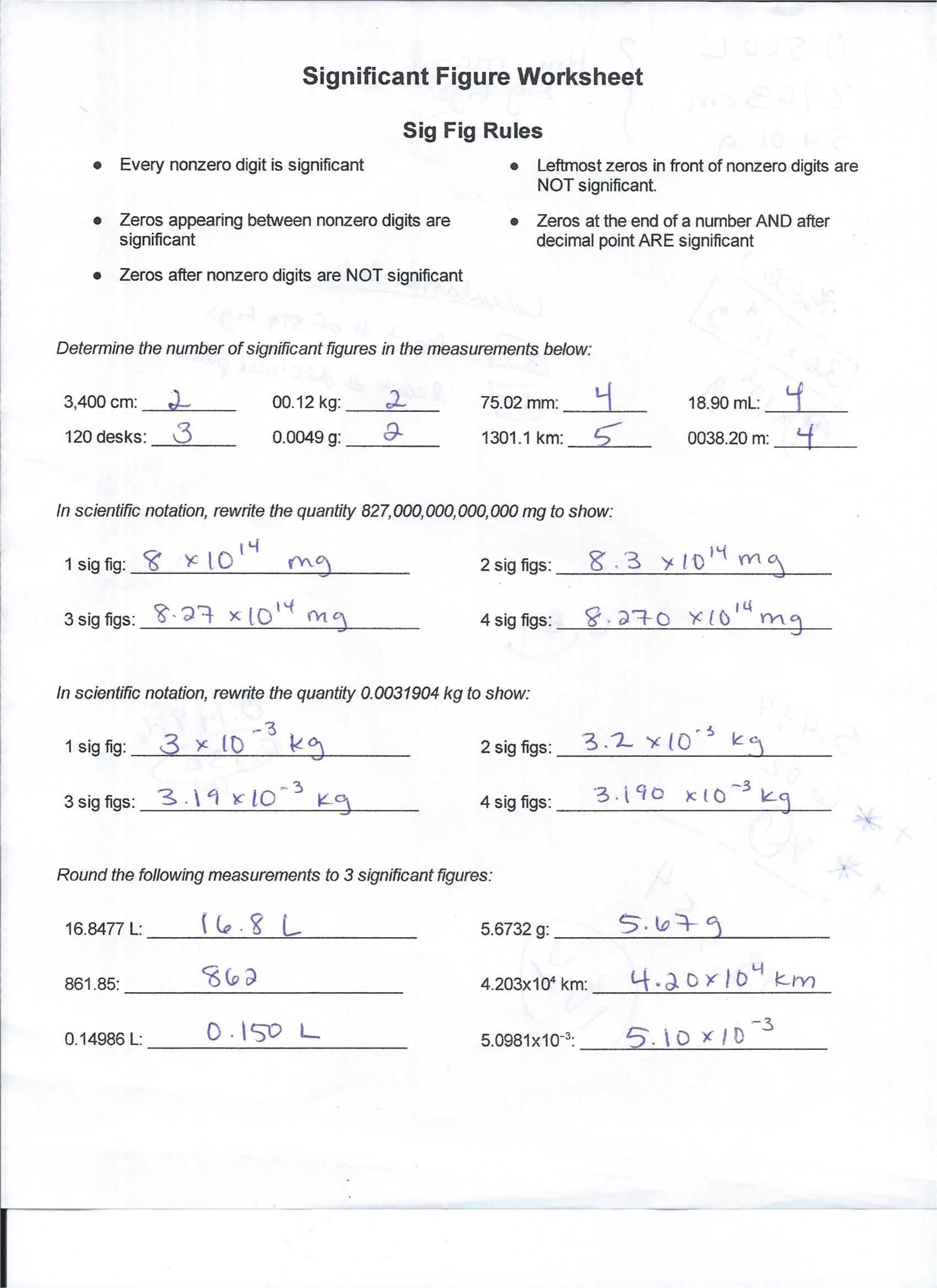 Scientific Notation Worksheet Answer Key Go Figure Chemistry Worksheet Answers