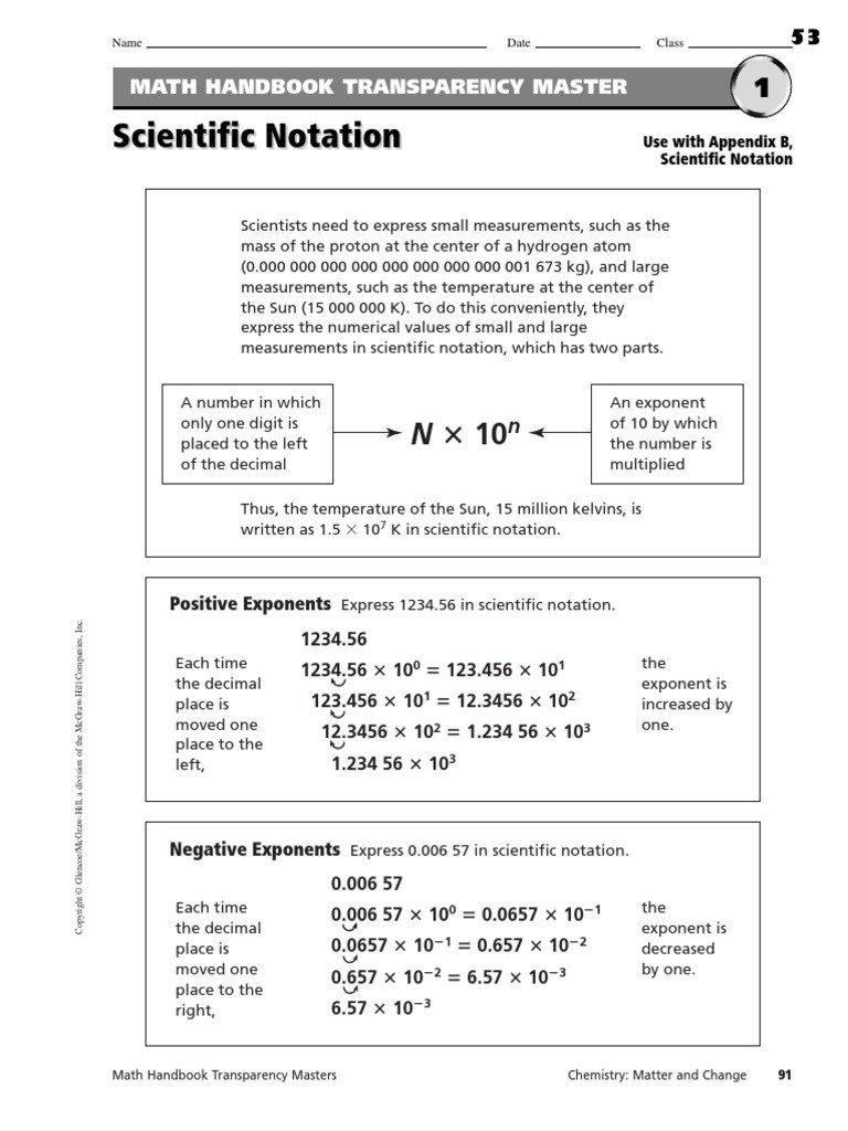Scientific Notation Worksheet Answer Key Scientific Notation Worksheets Multiplication