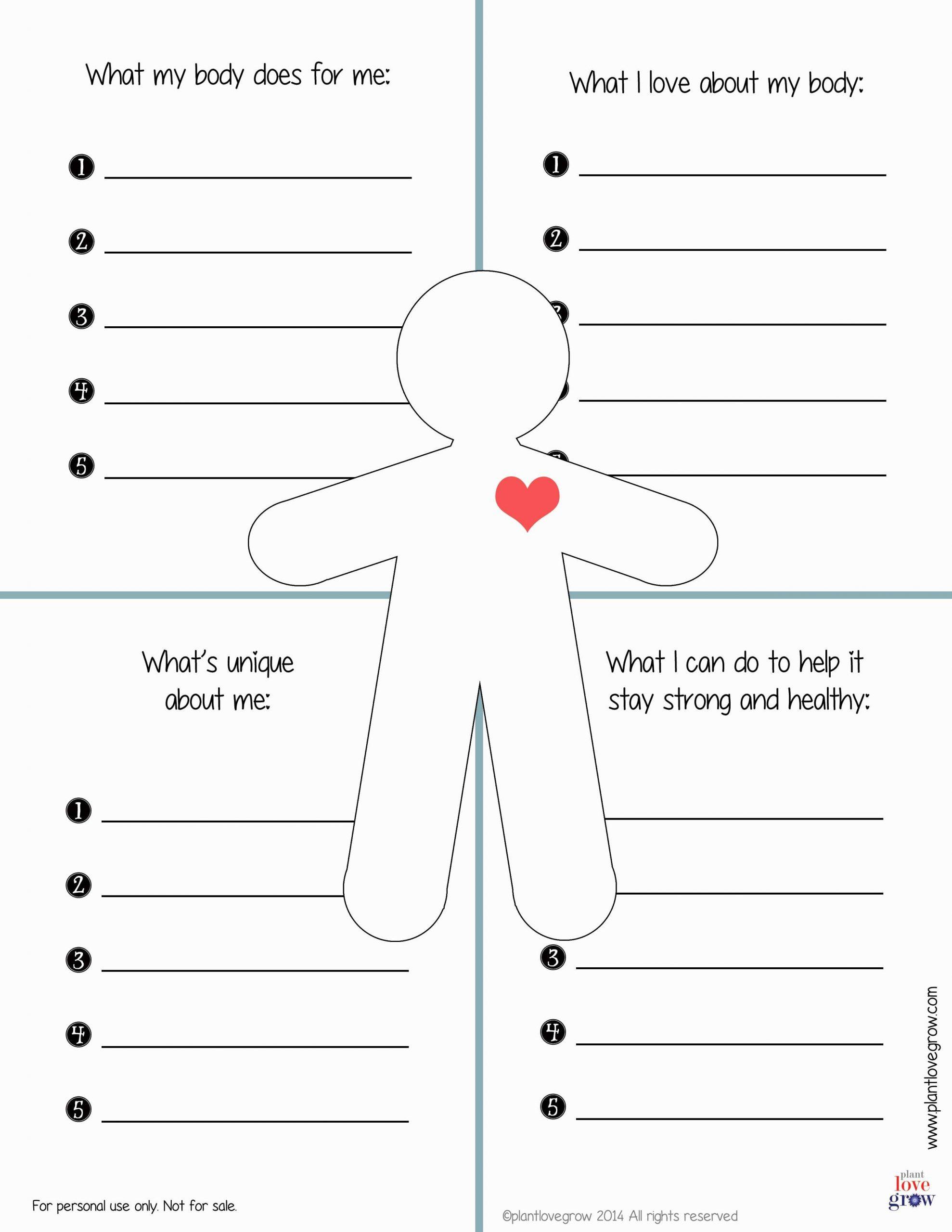 Self Esteem Worksheet for Adults 30 Self Esteem Worksheets to Print