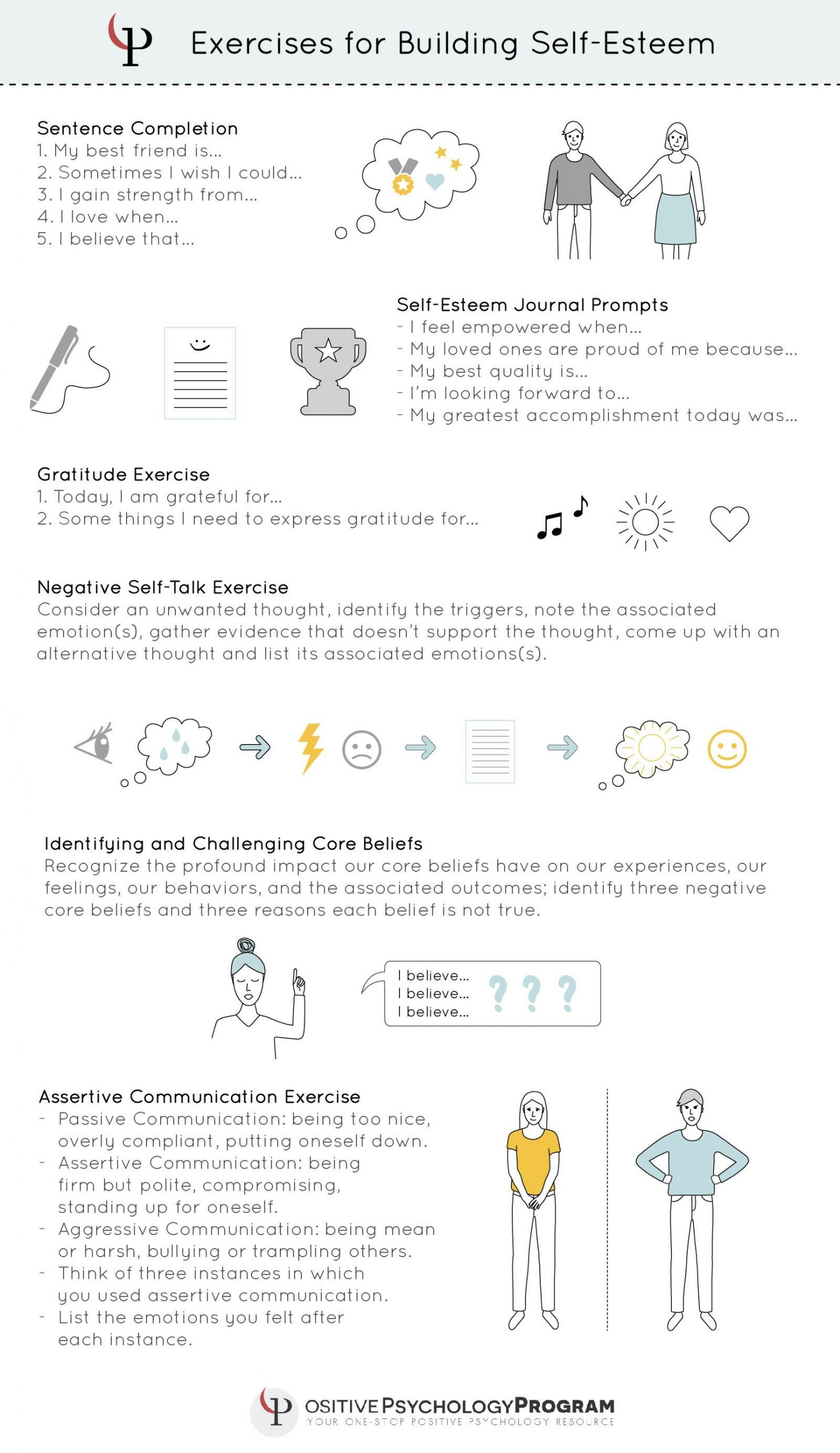 Self Esteem Worksheet for Adults Exercises Self Esteem