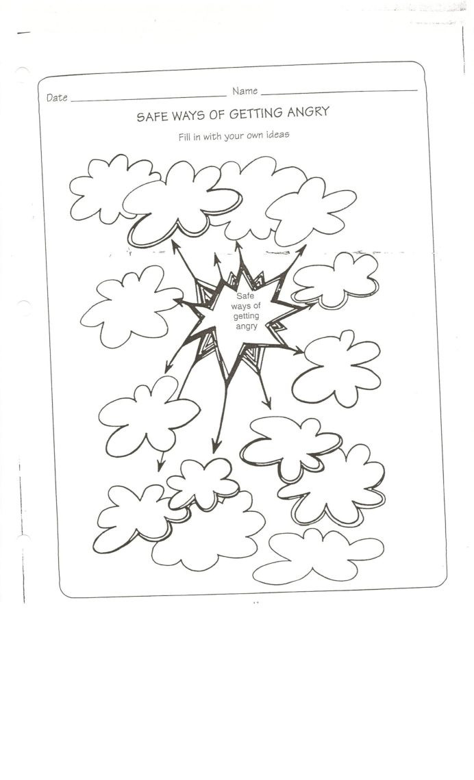 Self Esteem Worksheet for Adults Safe Way to Get Angry Worksheet Conflict Resolution Self