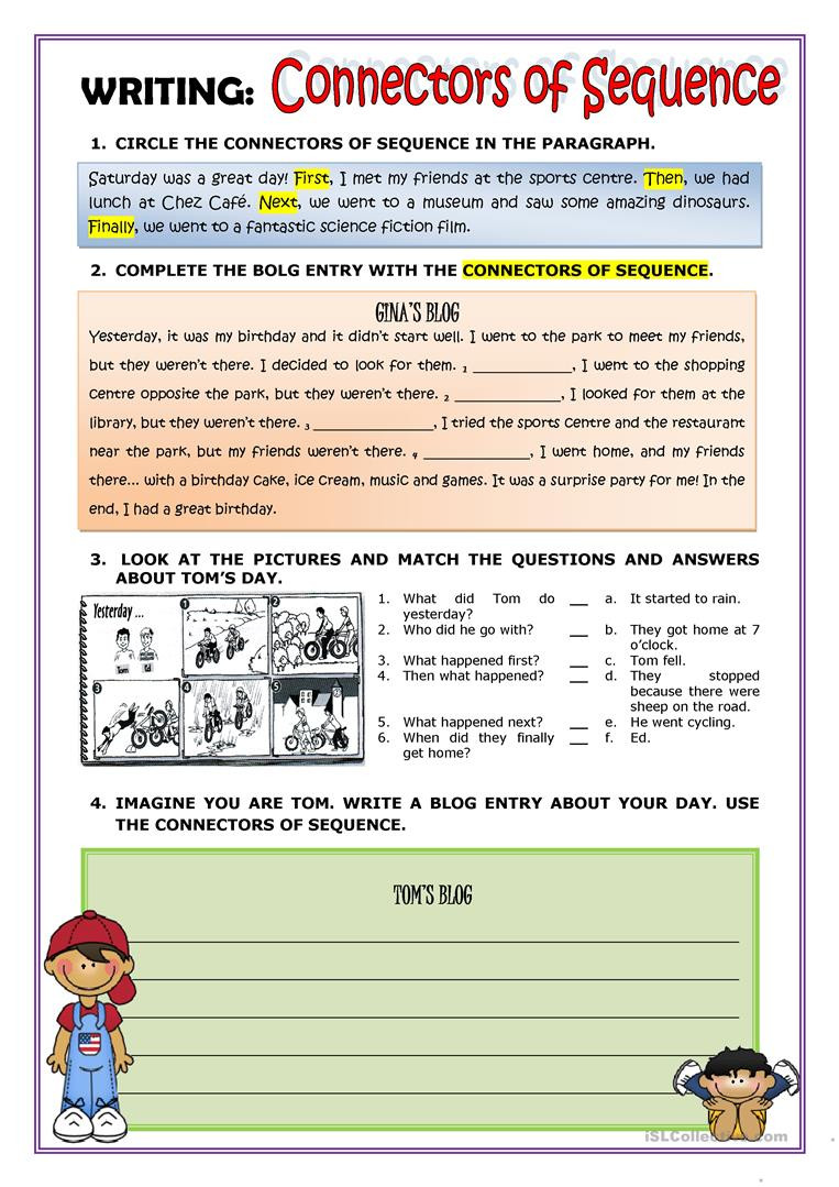Sequence Of Transformations Worksheet English Esl Sequence Worksheets Most Ed 33 Results