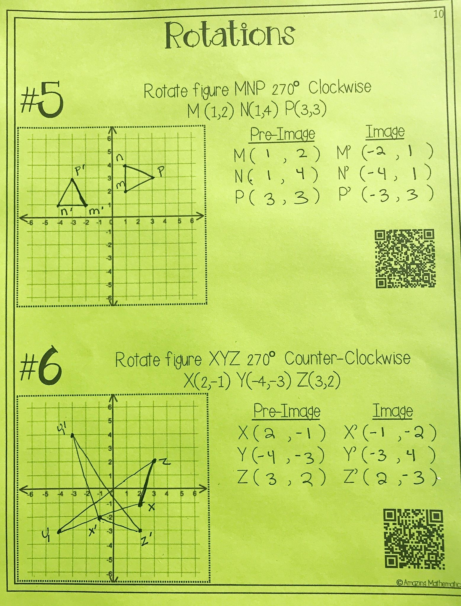 Sequence Of Transformations Worksheet Hs Geometry Transformations Workbook Translations