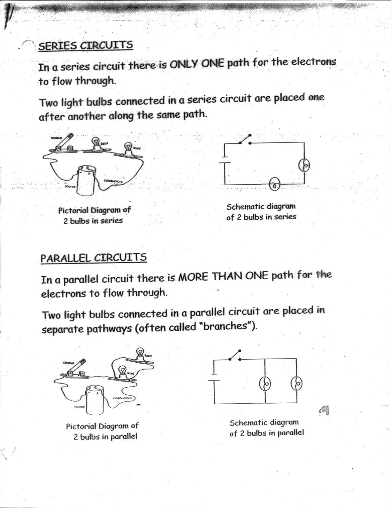 Series and Parallel Circuits Worksheet Series Parallel Circuits Worksheet