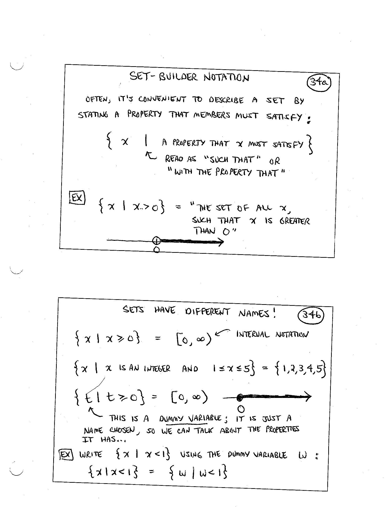 Set Builder Notation Worksheet Finite Mathematics Daily Syllabus