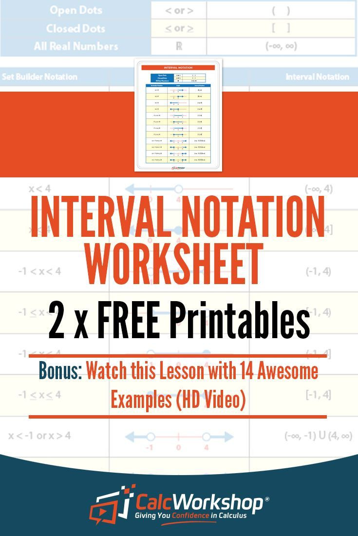 Set Builder Notation Worksheet Interval Notation Made Easy W 14 Step by Step Examples