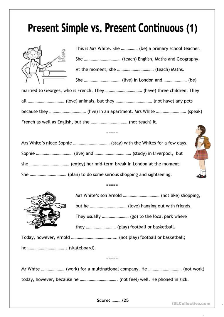 Simple Probability Worksheet Pdf English Esl Present Continuous Worksheets Most Ed