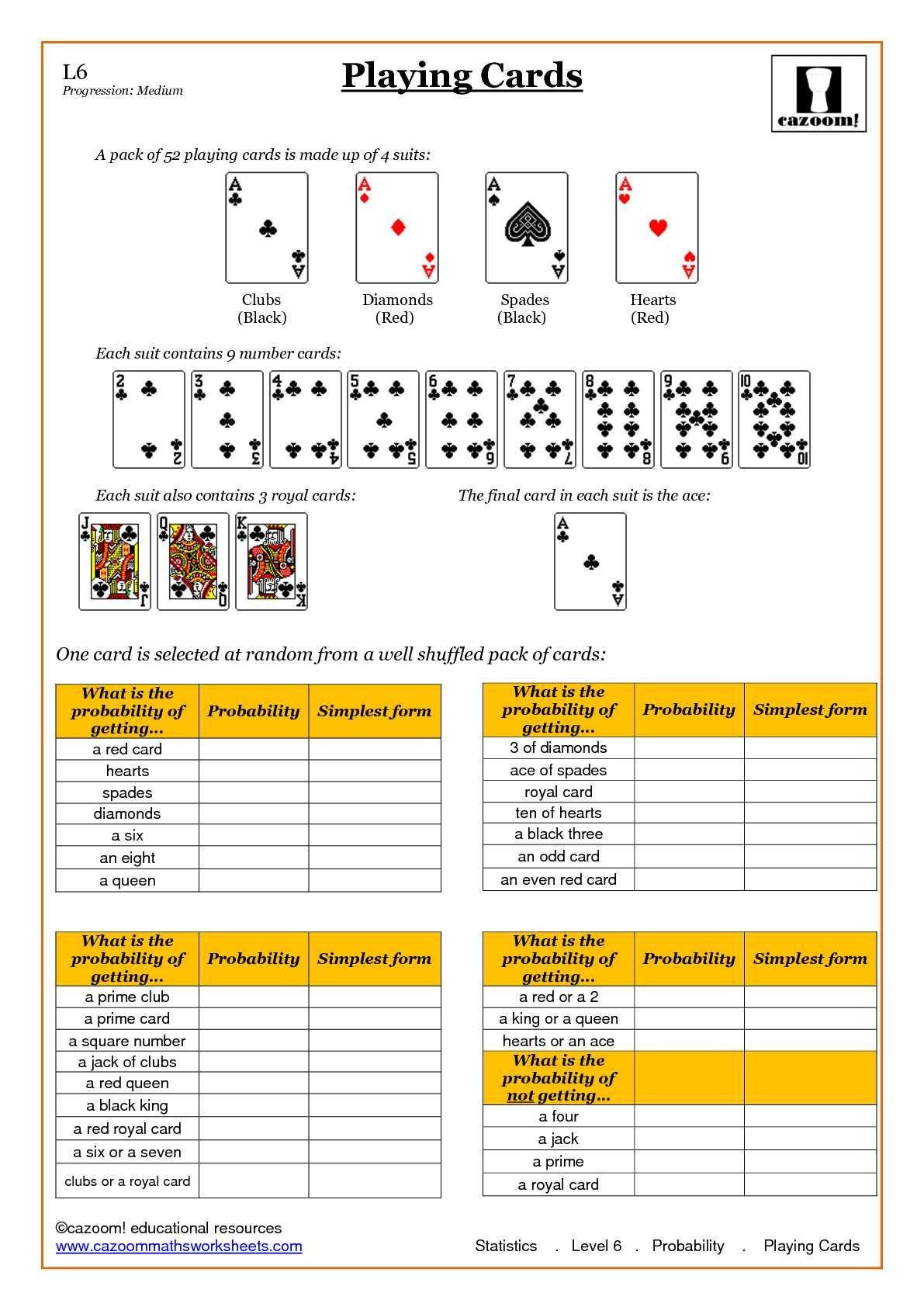 Simple Probability Worksheet Pdf Statistic Maths Worksheets
