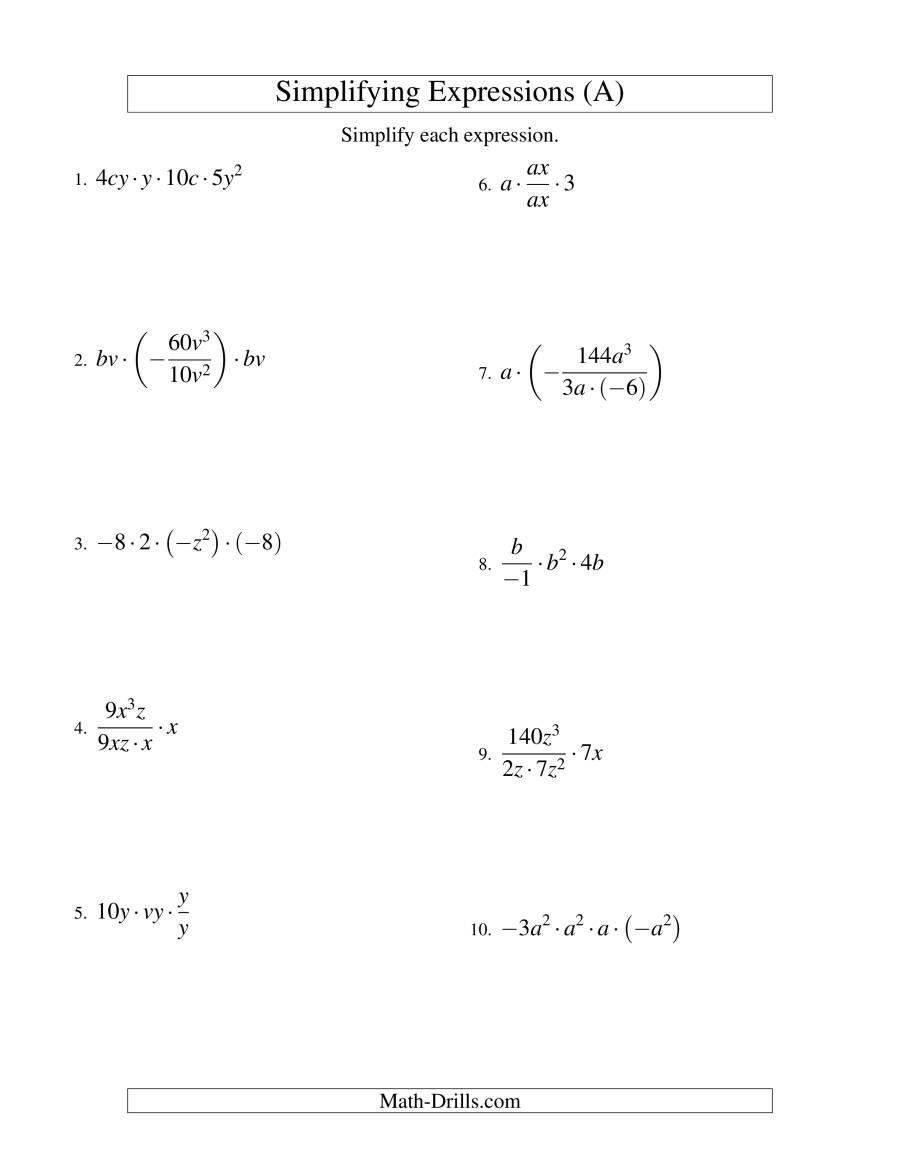 Simplifying Complex Fractions Worksheet Simplifying Fractions Homework Help