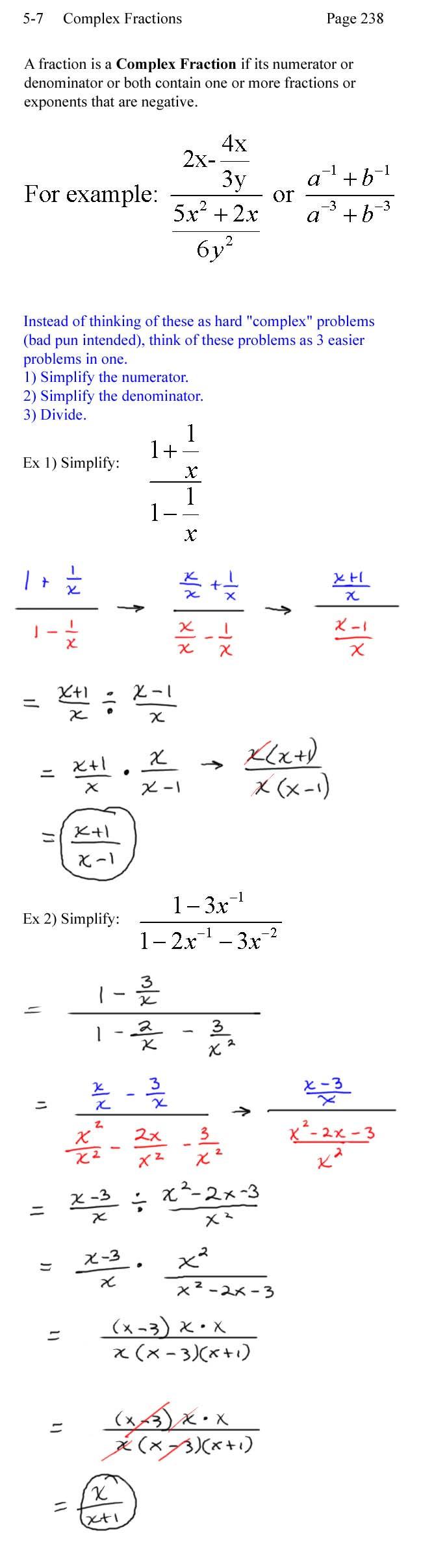 Simplifying Complex Numbers Worksheet 28 [ Plex Fractions Worksheet ]
