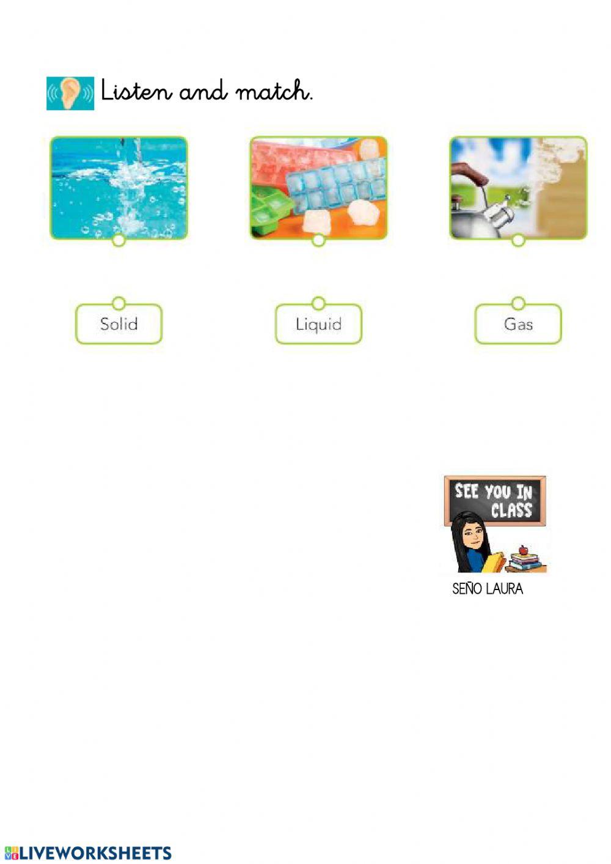 Solid Liquid Gas Worksheet solid Liquid and Gas Interactive Worksheet