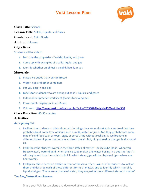 Solid Liquid Gas Worksheet solid Liquid Gas 3rd Grade Science by Rockfield Elementary