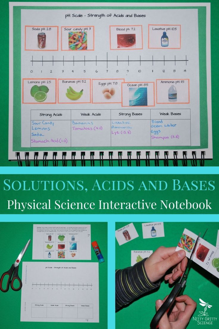 Solutions Acids and Bases Worksheet solutions Acids and Bases Science Interactive Notebook