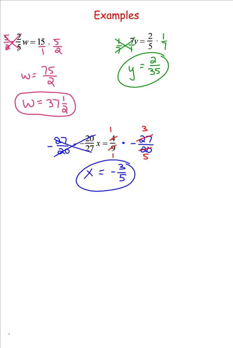 Solving Equations with Fractions Worksheet solving Equations by Multiplying Fractions 7th Grade Pre