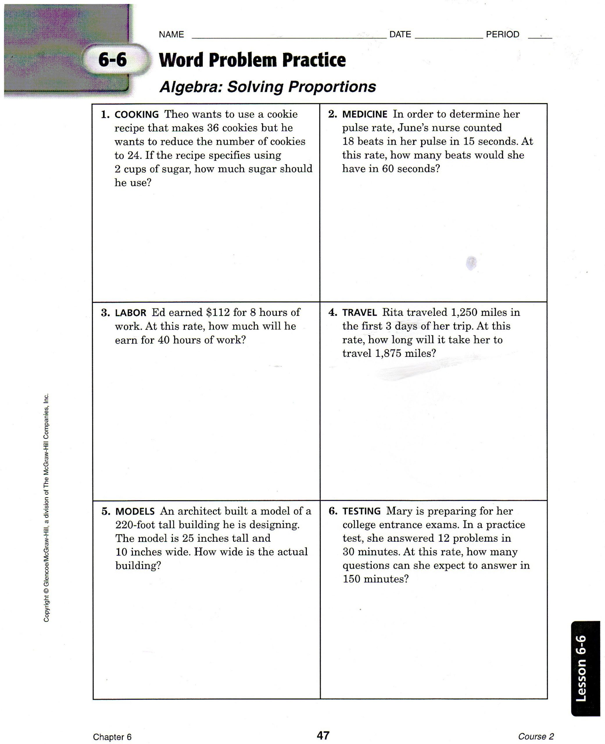 Solving Proportions Worksheet Answers solving Problems Involving Proportions Teas