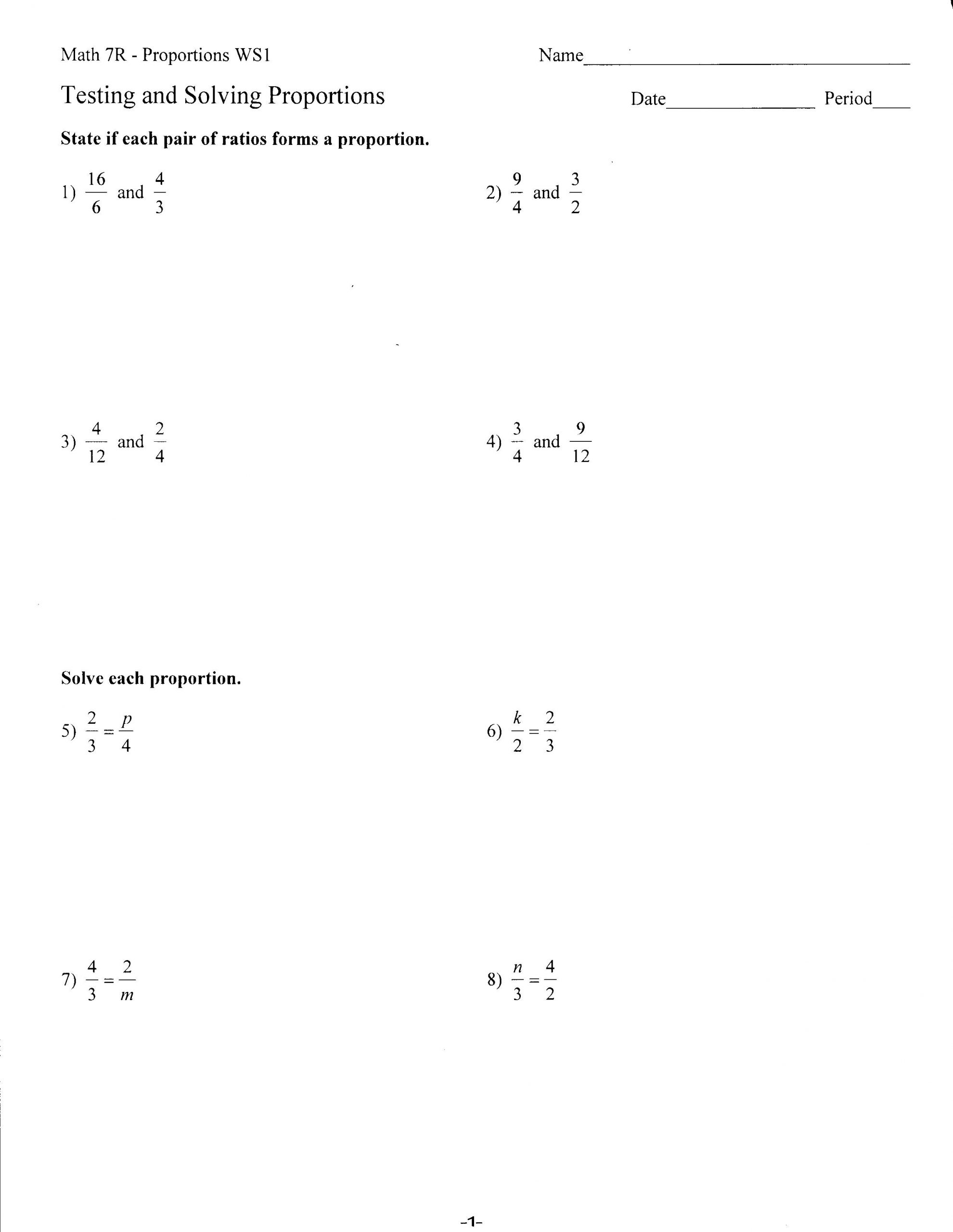 Solving Proportions Worksheet Answers Worksheets Mrs Lay S Webpage 2011 12