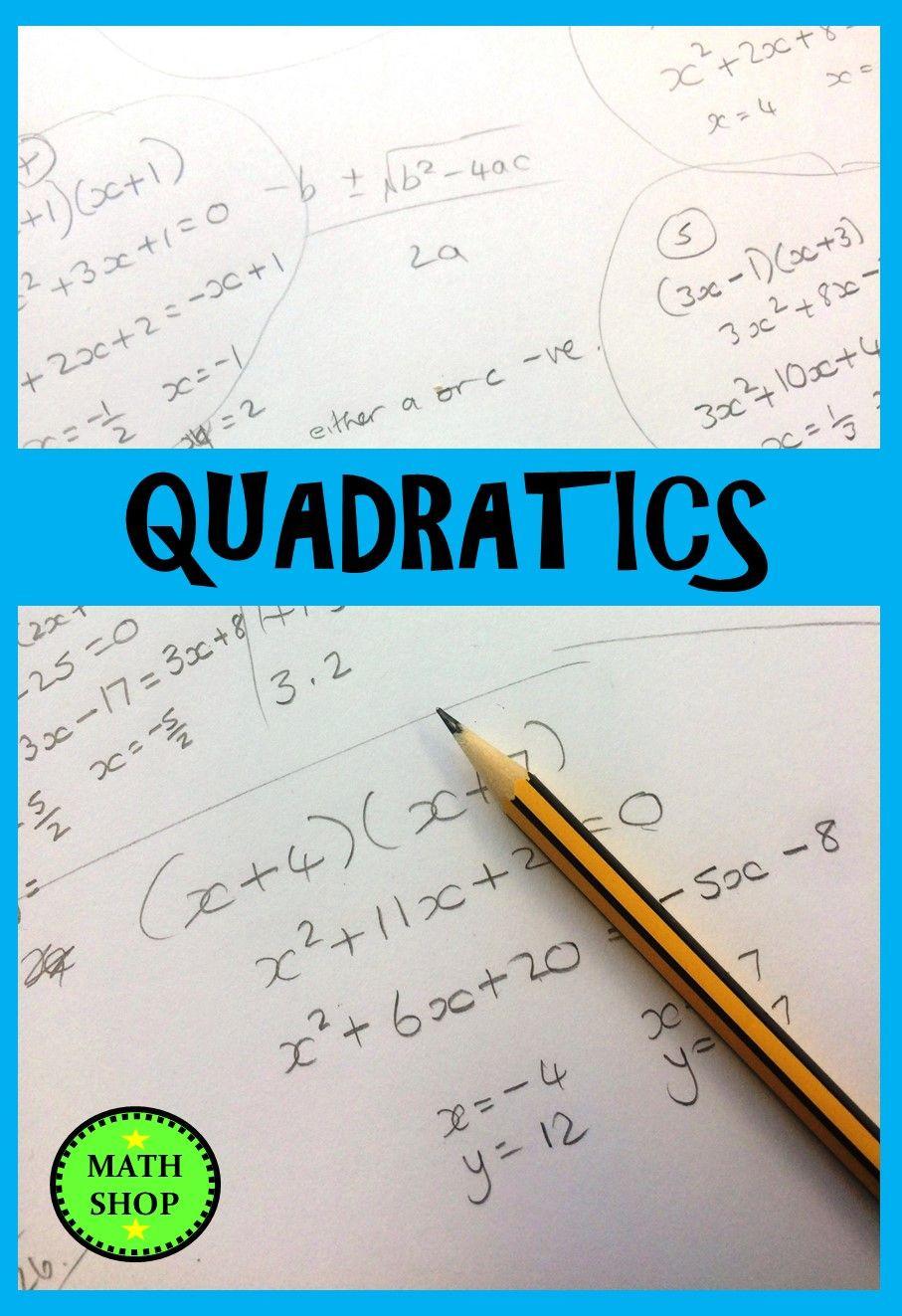 Solving Quadratic Inequalities Worksheet solving Quadratic Inequalities Quadratic Equations and