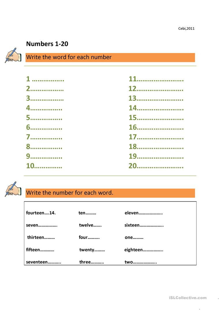 Spanish Numbers Worksheet 1 100 Numbers 1 100 English Esl Worksheets for Distance Learning