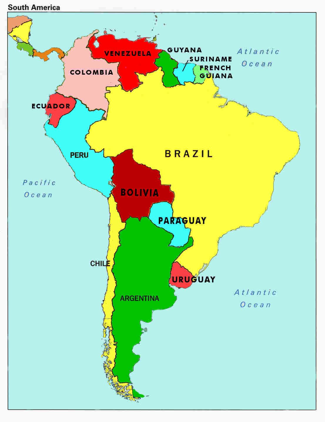 Spanish Speaking Countries Map Worksheet Map Of south America Countries and Capitals