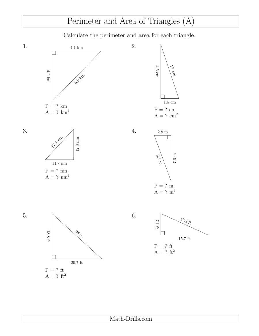 Special Right Triangles Practice Worksheet Right Triangle Worksheet