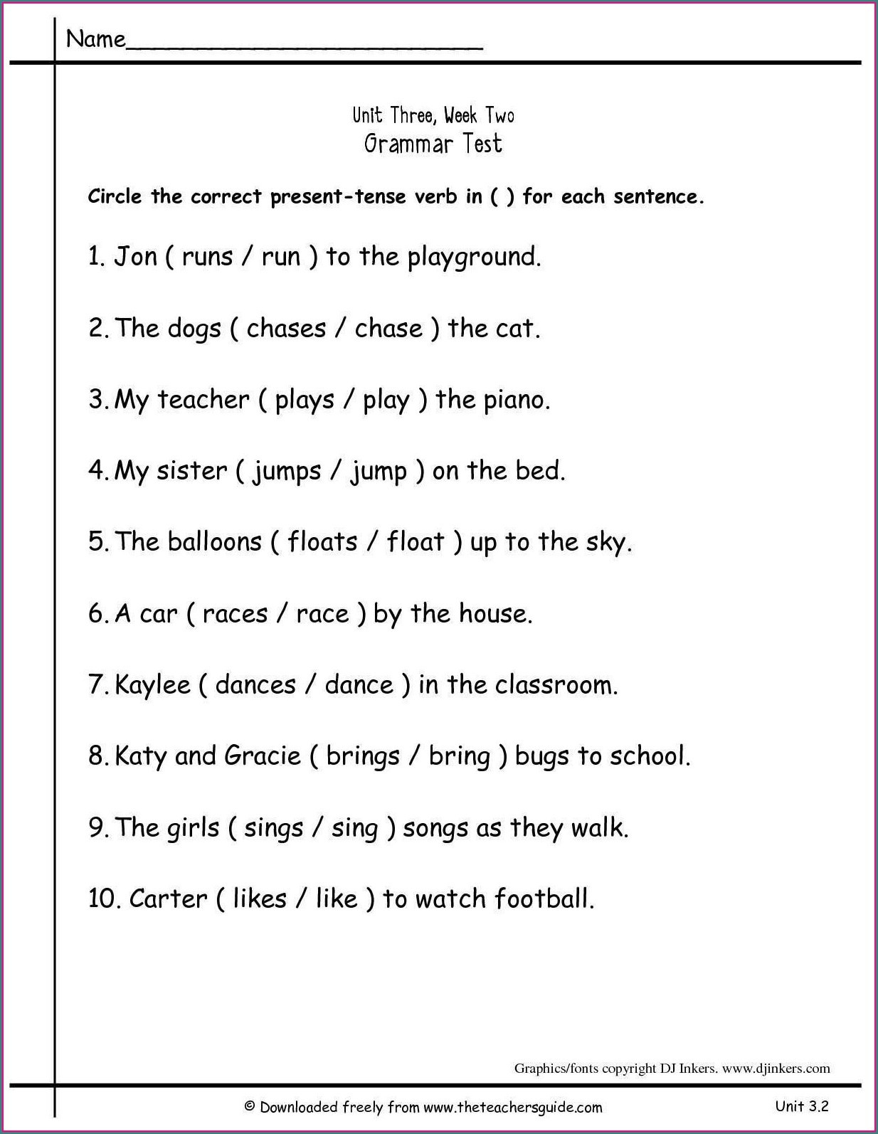 Subject Predicate Worksheet Pdf Math Worksheet 2nd Grade Grammarets Second Printable Free