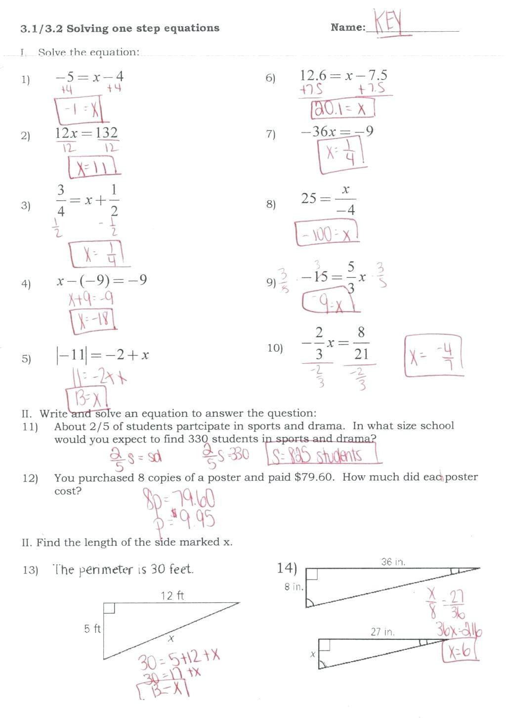 Substitution Method Worksheet Answers solving Using Elimination Worksheet