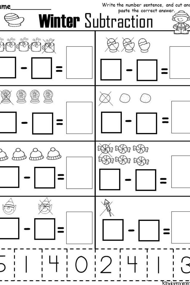 Subtraction Worksheet for Kindergarten Free Kindergarten Addition and Subtraction Worksheets