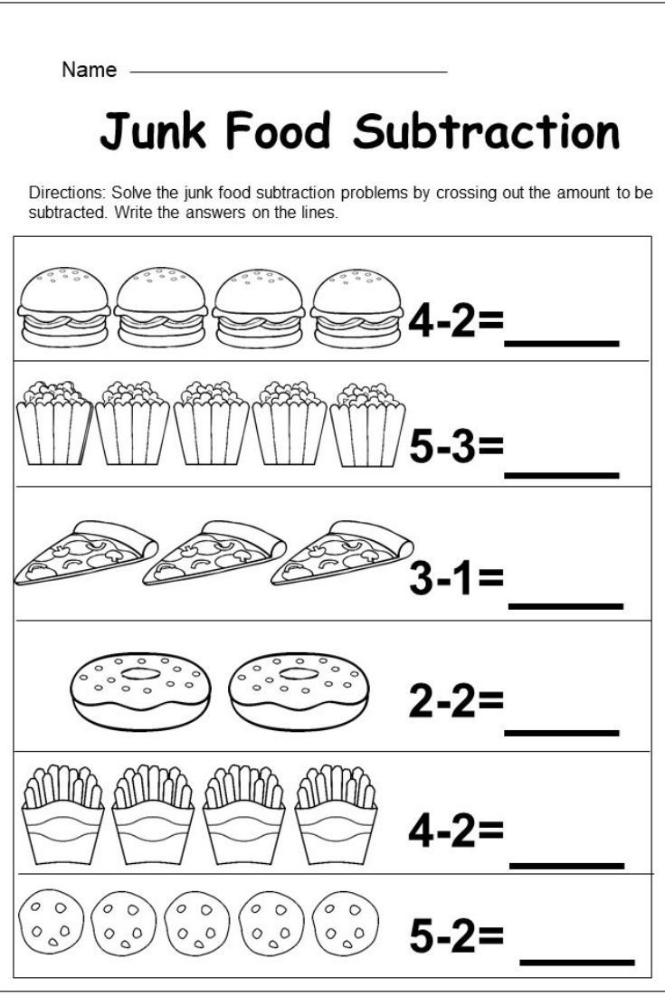 Subtraction Worksheet for Kindergarten Free Kindergarten Subtraction Worksheet