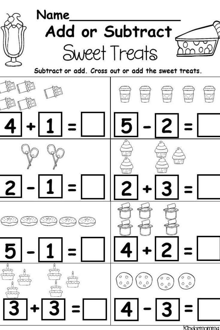 Subtraction Worksheet for Kindergarten Kindergarten Addition and Subtraction Printables