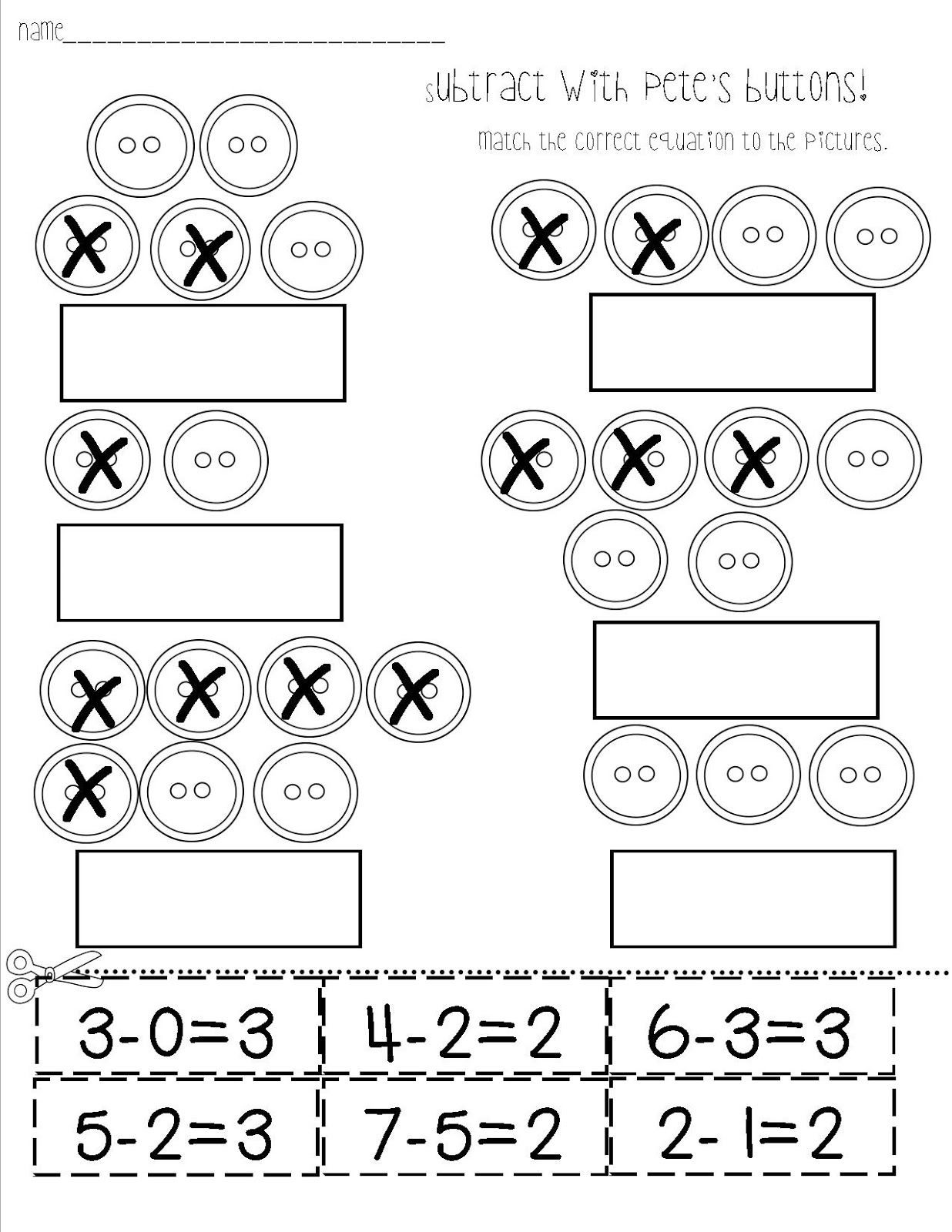 Subtraction Worksheet for Kindergarten Mrs Bohaty S Kindergarten Kingdom Great Subtraction
