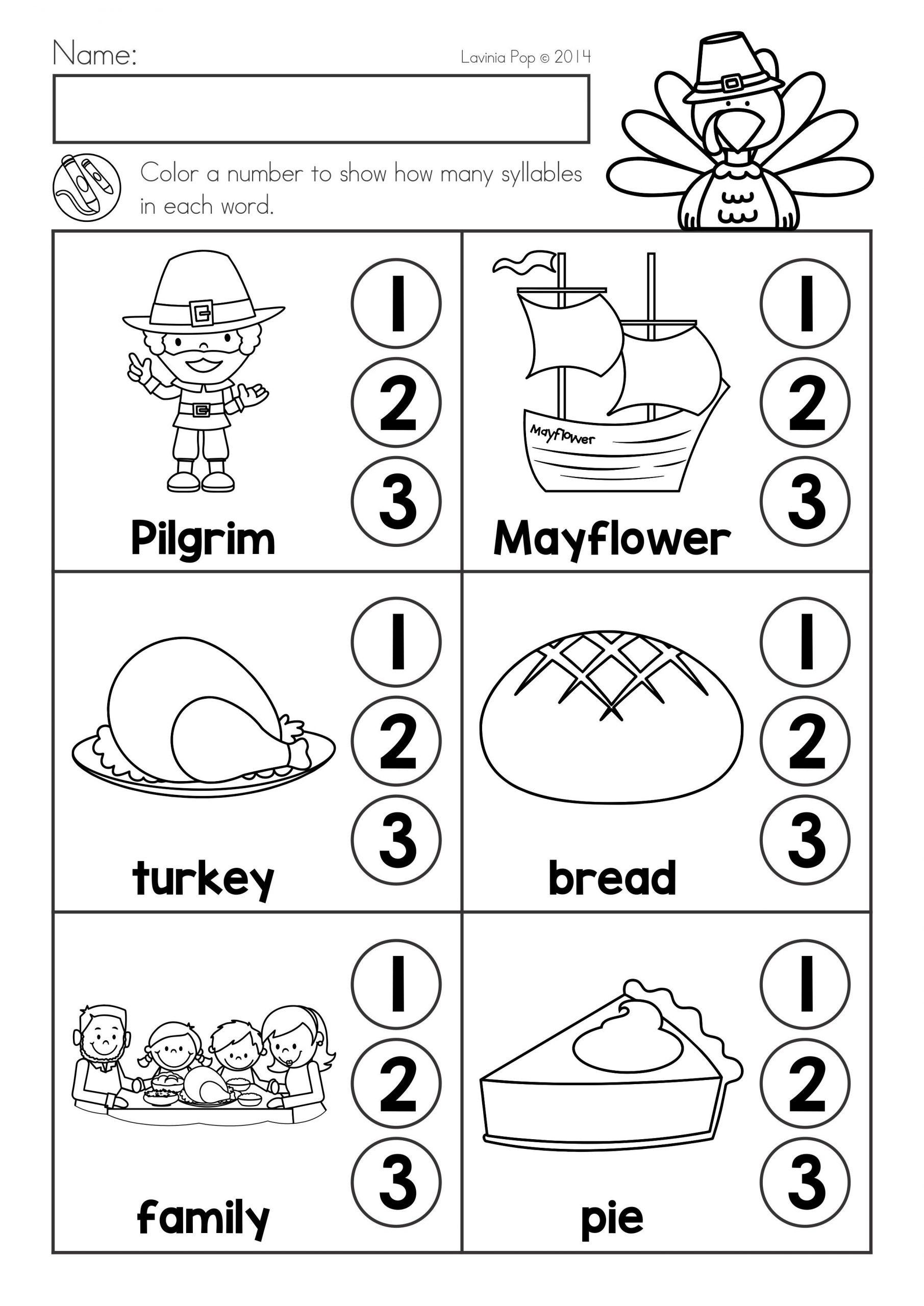 Syllables Worksheet for Kindergarten 20 Syllable Worksheet for Kindergarten