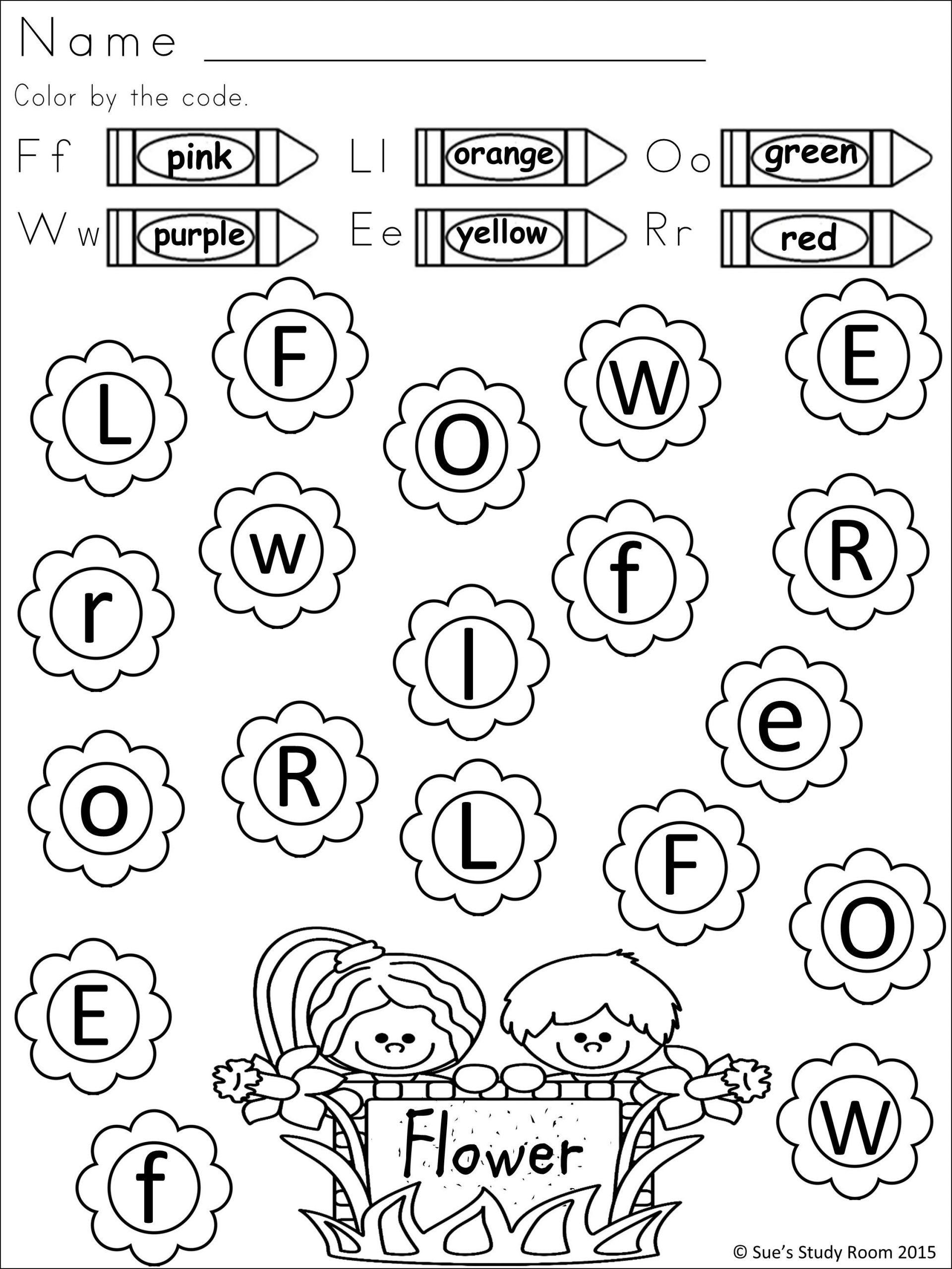 Syllables Worksheet for Kindergarten Spring Letter Recognition for Prek and K